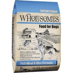 SPORTMiX Wholesomes Fish Meal & Rice Recipe Dry Dog Food 40-lb