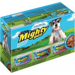 Purina Mighty Dog Roasted Variety Pack Canned Dog Food 5.5-oz, case of 24