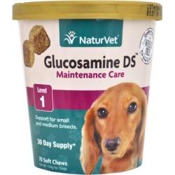 NaturVet Glucosamine DS Maintence Care Small & Medium Breeds Level 1 (70 Soft Chews)