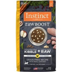 Nature's Variety Instinct Raw Boost Grain Free Recipe with Real Chicken Natural Dry Cat Food 10-lb