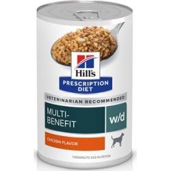 Hill's Prescription Diet w/d Multi-Benefit Digestive/Weight/Glucose/Urinary Management Vegetable & Chicken Stew Canned Dog Food 12.5 oz, 12-pack, Vegetable & Chicken Stew Flavor
