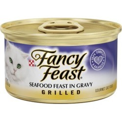 Fancy Feast Grilled Seafood Feast in Gravy Cat Food Canned 3-oz, case of 24