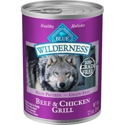 Blue Buffalo Wilderness Grain Free Beef and Chicken Canned Dog Food 12.5-oz, case of 12