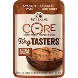 Wellness CORE Tiny Tasters Chicken & Turkey Pate Wet Cat Food 1.75-oz, case of 12
