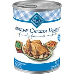 Blue Buffalo Family Favorite Sunday Chicken Dinner Canned Dog Food 12.5-oz, case of 12