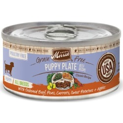 Merrick Grain Free Puppy Plate Beef Recipe Canned Puppy Food 12.7-oz, case of 12