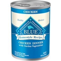 Blue Buffalo Homestyle Recipe Chicken Dinner with Garden Vegetables and Brown Rice Canned Dog Food 12.5-oz, case of 12