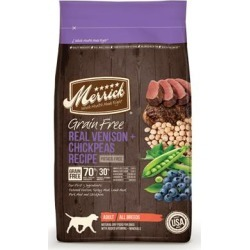 Merrick Grain Free Real Venison and Chickpeas Recipe Adult Dry Dog Food 22-lb