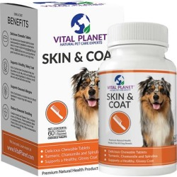 Vital Planet Skin & Coat 60 Chewable Tablets