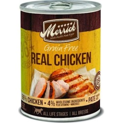 Merrick Grain Free 96% Real Chicken Canned Dog Food 12.7-oz, case of 12