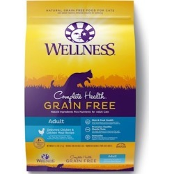 Wellness Complete Health Natural Adult Grain Free Deboned Chicken and Chicken Meal Dry Cat Food 5.5-lb