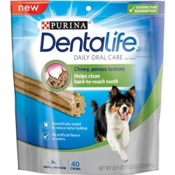 Purina Dentalife Daily Oral Care Adult Small and Medium Breed Chicken Flavor Dog Treats 40-pack