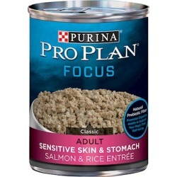 Purina Pro Plan Select Sensitive Skin Salmon and Rice Canned Dog Food 13-oz, case of 12