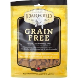Darford Grain Free Cheddar Cheese Recipe Minis Oven Baked Dog Treats 12-oz