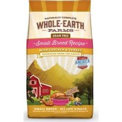 Whole Earth Farms Grain Free Recipe Small Breed Dry Dog Food 12-lb