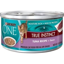 Purina ONE Tuna in Sauce Canned Cat Food 3-oz, case of 24