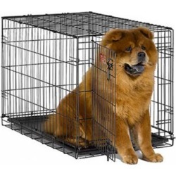 Midwest iCrate Single Door Folding Dog Crate 22' x 13' x 16'