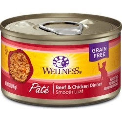 Wellness Canned Cat Food Beef and Chicken Recipe 12.5oz cans - case of 24