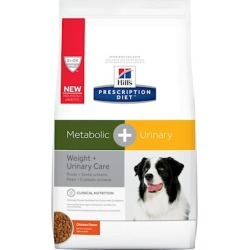 Hill's Prescription Diet Metabolic + Urinary, Weight + Urinary Care Dry Dog Food 24.5 lb Bag, Chicken Flavor