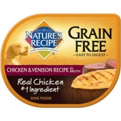Nature's Recipe Grain Free Easy to Digest Chicken and Venison Recipe in Broth Wet Dog Food 2.75-oz, case of 12