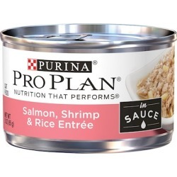 Purina Pro Plan Savor Adult Salmon, Shrimp and Rice in Sauce Entree Canned Cat Food 3-oz, case of 24