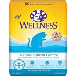 Wellness Natural Hairball Control Chicken Meal and Rice Recipe Dry Cat Food 6-lb