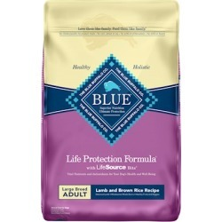 Blue Buffalo Life Protection Large Breed Adult Lamb and Brown Rice Recipe Dry Dog Food 30-lb