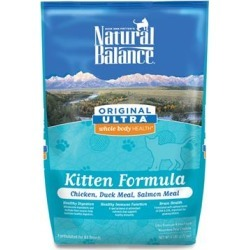 Natural Balance Original Ultra Whole Body Health Chicken Duck Meal Salmon Meal Kitten Formula Dry Cat Food 6-lb