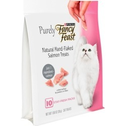 Fancy Feast Purely Natural Hand-Flaked Salmon Cat Treats 1.06-oz