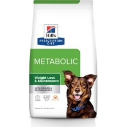 Hill's Prescription Diet Metabolic Weight Management Dry Dog Food 17.6 lb Bag, Lamb Meal & Rice Formula