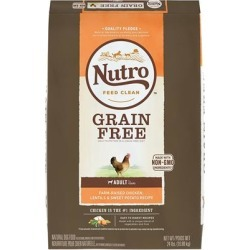 Nutro Grain Free Adult Farm-Raised Chicken, Lentils And Sweet Potato Dry Dog Food 24-lb