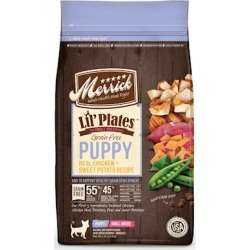 Merrick Lil' Plates Grain Free Puppy Small Breed Real Chicken and Sweet Potato Recipe Dry Dog Food 12-lb