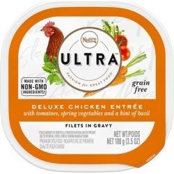 Nutro Ultra Grain Free Deluxe Chicken Entree Filets in Gravy Wet Dog Food 3.5-oz, case of 24