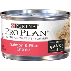 Purina Pro Plan Savor Adult Salmon and Rice in Sauce Entree Canned Cat Food 3-oz, case of 24