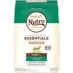 Nutro Wholesome Essentials Healthy Weight Adult Pasture-Fed Lamb & Rice Recipe Dry Dog Food 30-lb