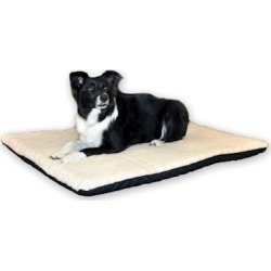 K & H Pet Products Orthopedic Thermo Pet Bed Medium White / Green 17' x 27' x 3'
