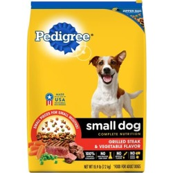 Pedigree Small Dog Adult Steak and Vegetable Dry Dog Food 15.9-lb