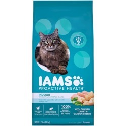 Iams ProActive Health Indoor Weight and Hairball Care Recipe Dry Cat Food 16-lb