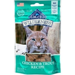 Blue Buffalo Wilderness Chicken & Trout Cat Treats 2 oz