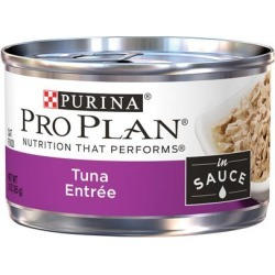 Purina Pro Plan Savor Adult Tuna Entree In Sauce Canned Cat Food 3-oz, case of 24