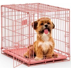 Midwest iCrate Single Door Pink Dog Crate 24' x 18'