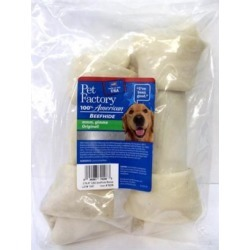 Pet Factory USA Knotted Bone Treats For Dogs 9-inch, 2-pack