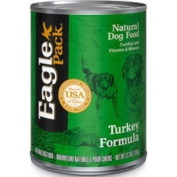 Eagle Pack Natural Dog Food, Canned Turkey Formula for Dogs 13.2 oz cans / case of 12
