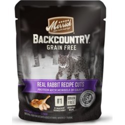 Merrick Backcountry Grain Free Real Rabbit Cuts Recipe Cat Food Pouch 3-oz, case of 24