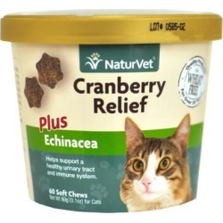 NaturVet Cranberry Relief Plus Echinacea for Cats 60 Soft Chew found on Bargain Bro Philippines from PetCareRx for $10.62