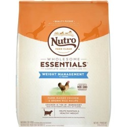 Nutro Wholesome Essentials Weight Management Adult Chicken and Brown Rice Dry Cat Food 6.5-lb