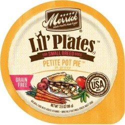 Merrick Lil' Plates Adult Small Breed Grain Free Petite Pot Pie Canned Dog Food 3.5-oz, case of 12