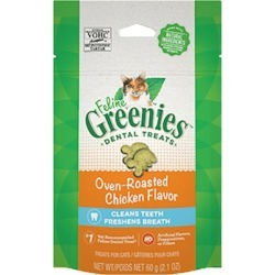 Greenies Feline Oven Roasted Chicken Flavor 2.5 oz. found on Bargain Bro Philippines from PetCareRx for $3.32
