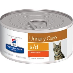Hill's Prescription Diet s/d Urinary Care Chicken Flavor Canned Cat Food 5.5 oz, 24-pack, Chicken Flavor found on Bargain Bro Philippines from PetCareRx for $49.99