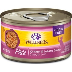 Wellness Canned Cat Food Chicken & Lobster Recipe 5.5oz Case Of 24